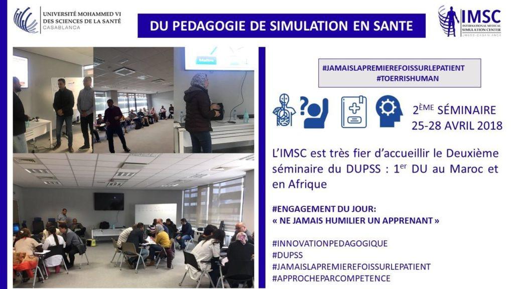 le Deuxième séminaire du DUPSS : 1er DU au Maroc et en Afrique