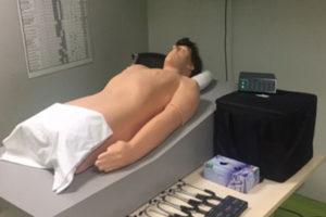 Salle d'auscultation cardio-pulmonaire