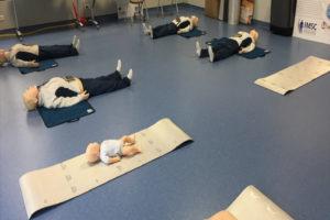 Salle de formation à la réanimation cardio-pulmonaire