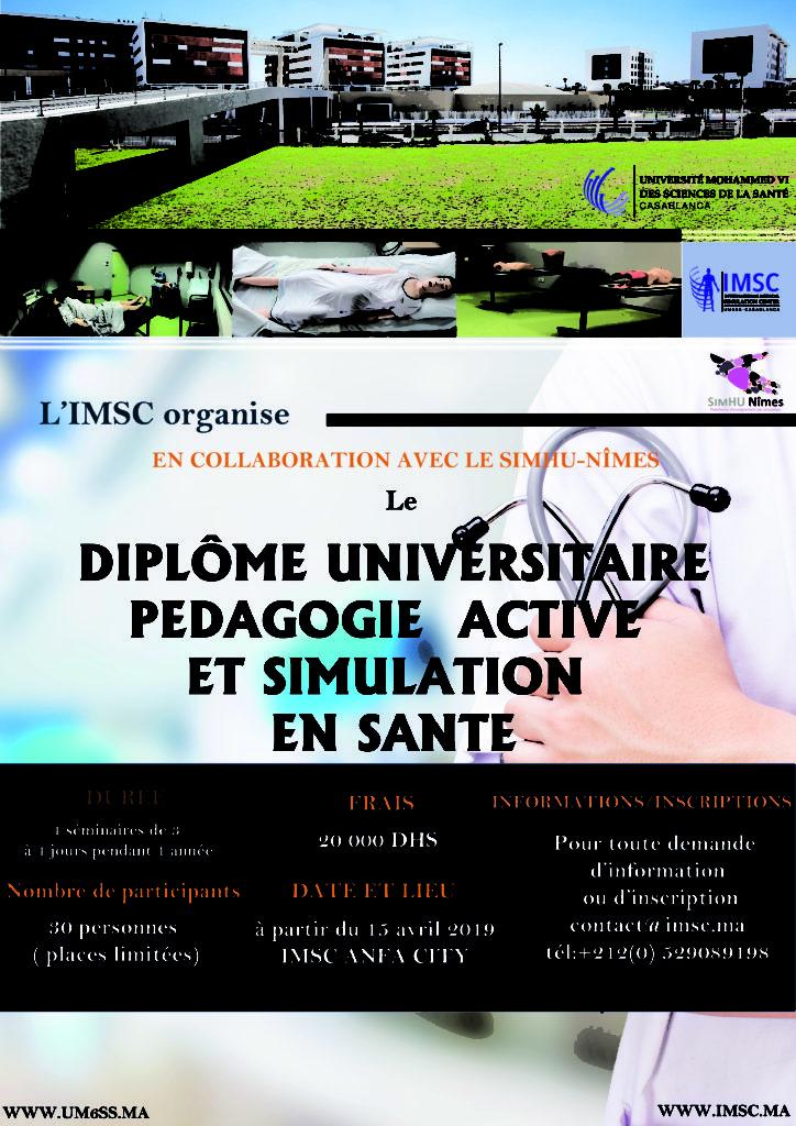 Diplôme Universitaire Pédagogie Active et Simulation en santé